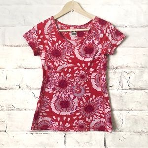 The Northface Floral Pink Short Sleeve Top